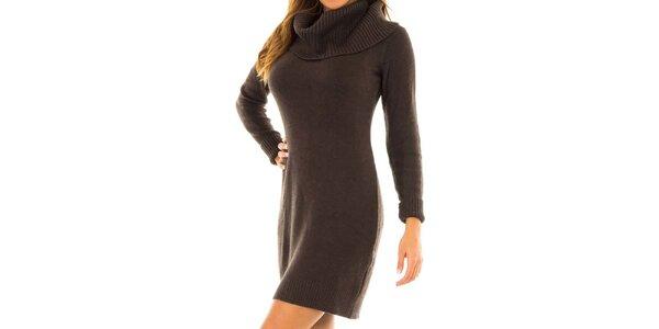 Dámské hnědé úpletové šaty Tommy Hilfiger