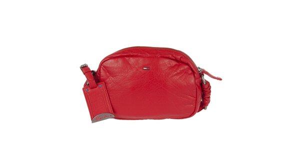 Dámská červená kabelka s dekorativním prošíváním Tommy Hilfiger