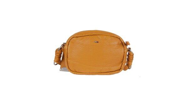 Dámská kabelka s dekorativním prošíváním v hořčicovém odstínu Tommy Hilfiger