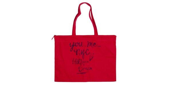 Dámská červená obdélníková taška Tommy Hilfiger