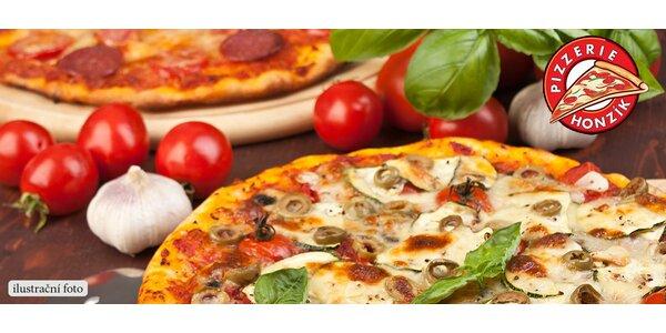 2 jakékoli pizzy za skvělou cenu v pizzerii Honzík