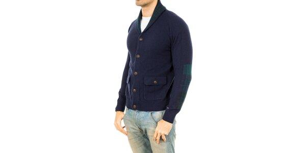 Pánský modrý svetr s knoflíky Tommy Hilfiger