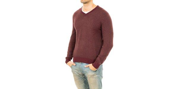Pánský svetr v kaštanovém odstínu Tommy Hilfiger