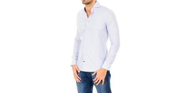 Pánská světle modrá bavlněná košile Tommy Hilfiger