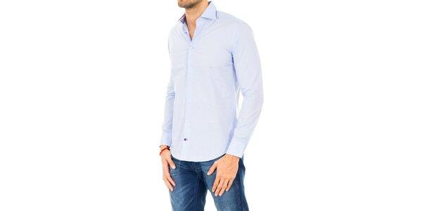 Pánská světle modrá košile s dlouhým rukávem Tommy Hilfiger