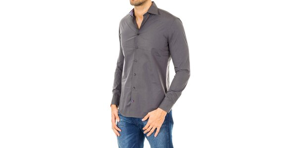 Pánská šedá košile s dlouhým rukávem Tommy Hilfiger