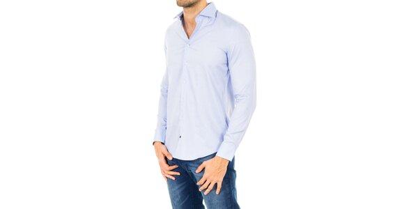 Pánská bavlněná košile ve světle modrém odstínu Tommy Hilfiger
