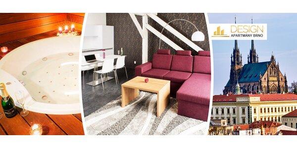 Bydlení v designovém apartmánu v centru Brna