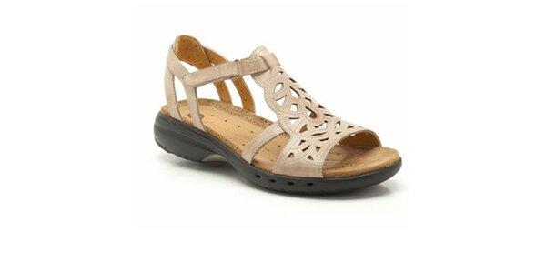 Dámské béžové sportovní sandálky Clarks