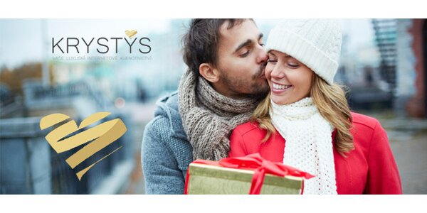 Valentýn v hodnotě 500 Kč v klenotnictví KRYSTYS
