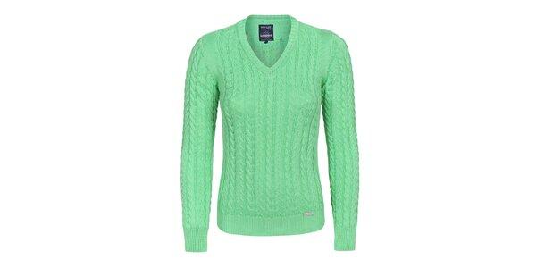 Dámský zelený svetřík s plastickým vzorem Giorgio di Mare