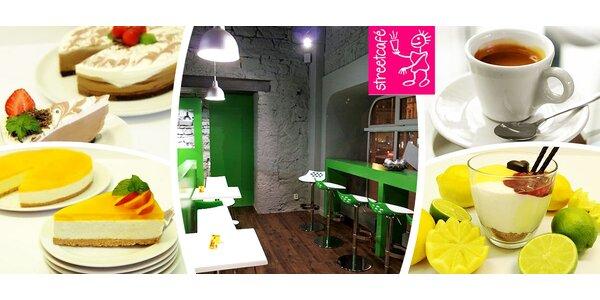 2x nápoj a domácí zákusek ve streetcafé