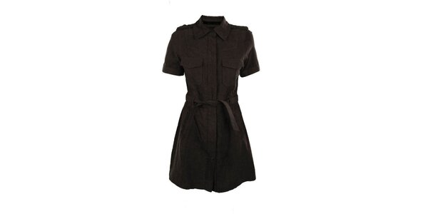 Dámské hnědé semišové šaty Company&Co