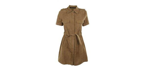 Dámské béžové semišové šaty Company&Co