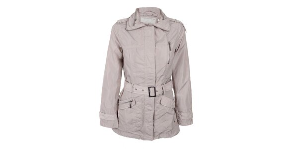 Dámský světle béžový kabátek s páskem Company&Co