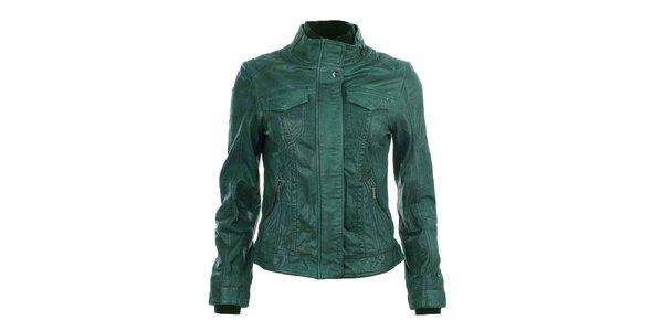 Dámská zelená kožená bunda COMPANY&CO