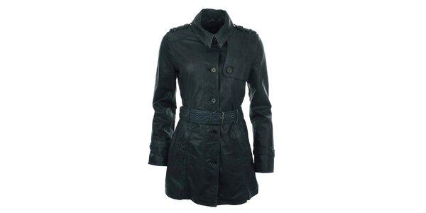 Dámský tmavě modrý kabát s páskem COMPANY&CO
