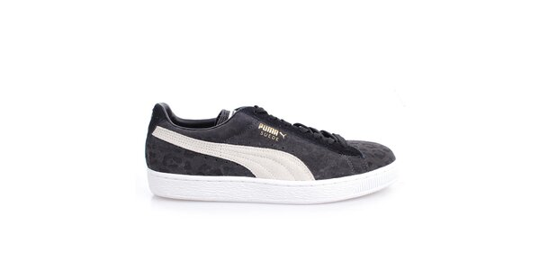Pánské šedo-černo-bílé vzorované tenisky Puma