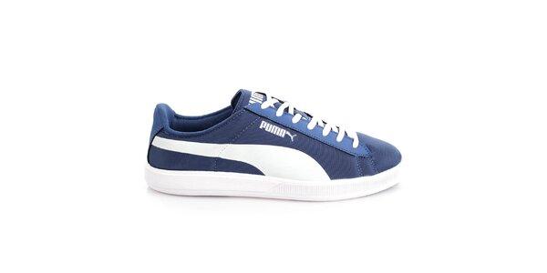 Pánské modro-bílé textilní tenisky Puma