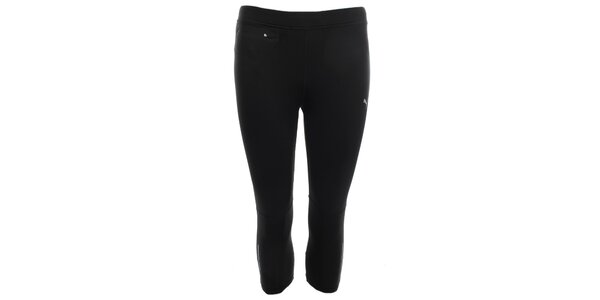 Dámské černé 3/4 elastické kalhoty s kapsičkou Puma
