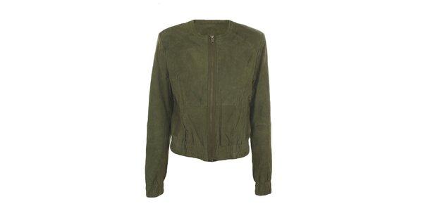 Dámská semišová khaki bunda Company&Co