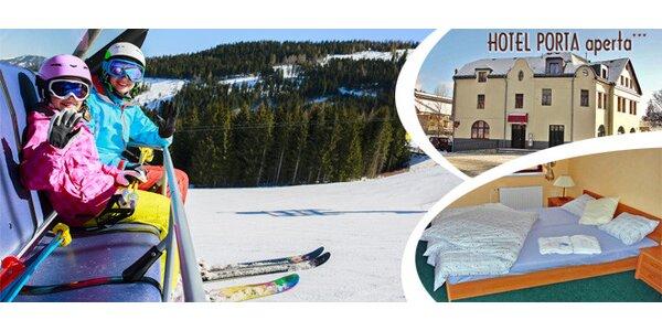 Zima a jaro v hotelu Porta aperta v Jizerských horách