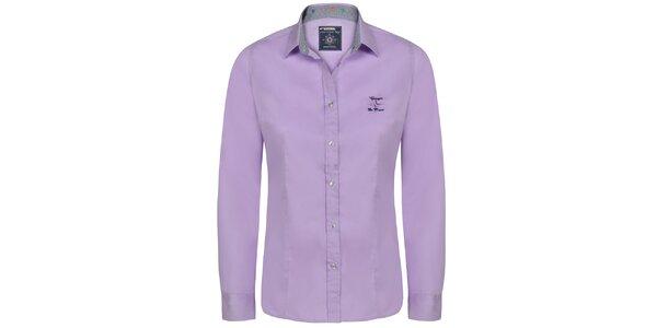 Dámská košile s dlouhým rukávem v barvě lila Giorgio Di Mare