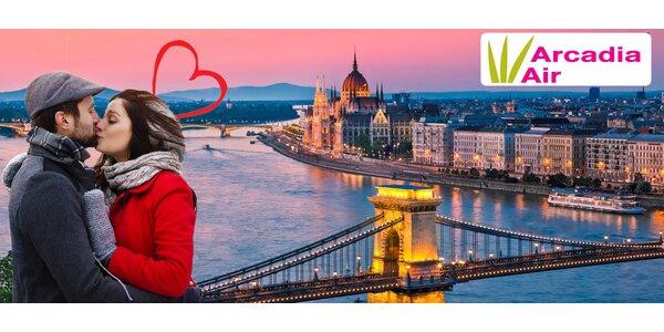 Valentýn v Budapešti – 3 noci v hotelu i termální lázně