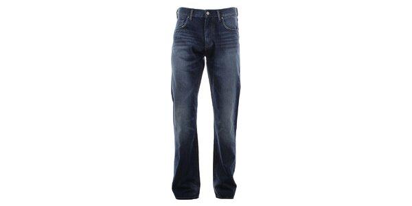 Pánské modré džíny s šisováním na nohavicích Big Star