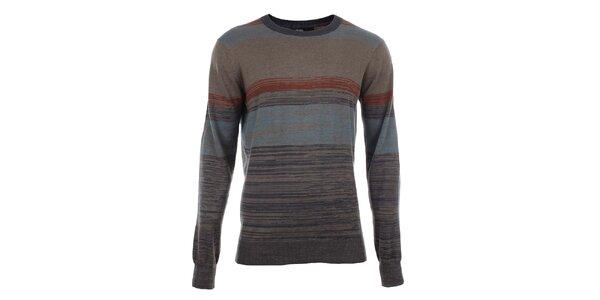 Pánský svetr s barevnými žíhanými pruhy Big Star
