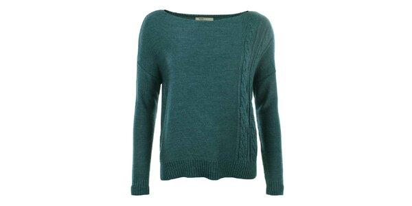 Dámský zelenomodrý svetr s plastickým vzorem Big Star