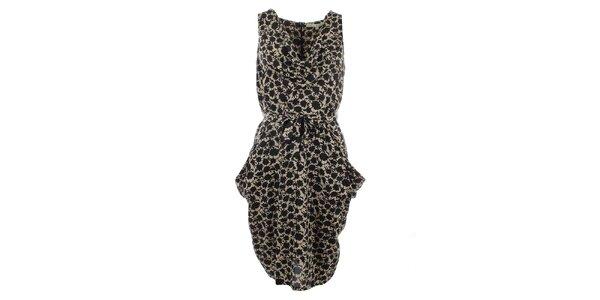 Dámské krémové šaty s potiskem Uttam Boutique