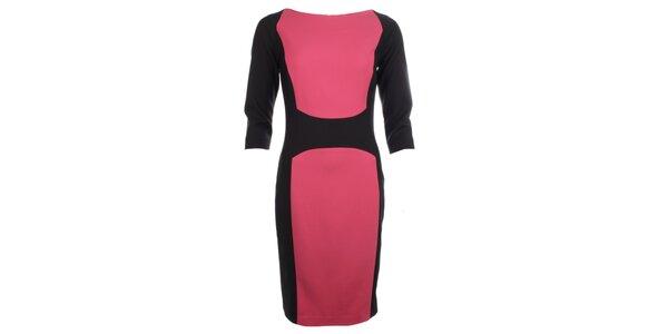 Dámské černo-růžové pouzdrové šaty Pietro Filipi
