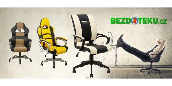 6 druhů pohodlných kancelářských židlí