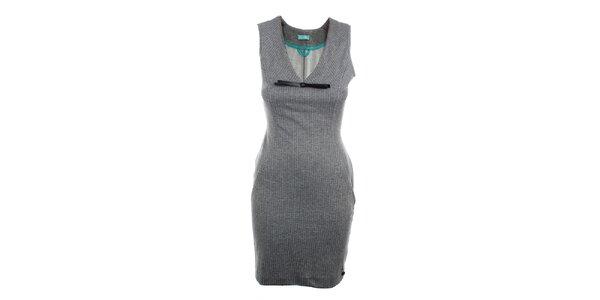 Dámské šedé šaty bez rukávů Phard