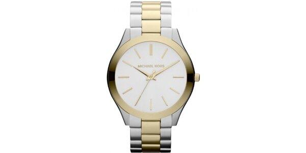 Dámské hodinky ve stříbrno-zlatém tónu Michael Kors