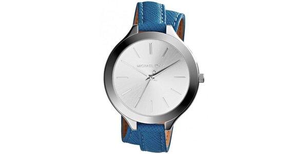 Dámské hodinky s modrým páskem Michael Kors
