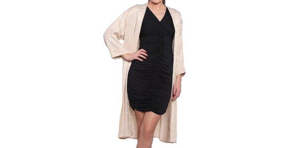 Dámský krémový lehký kabát s elegantním vzorem Vera Ravenna