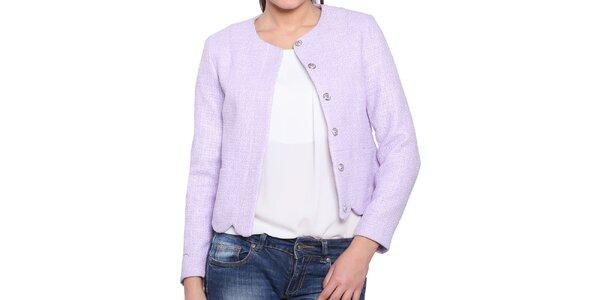 Dámský krátký kabátek v lila odstínu Vera Ravenna