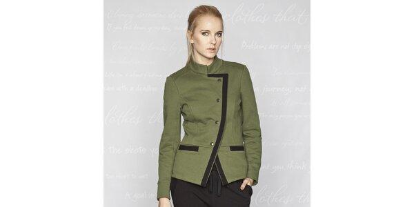 Dámský zelený kabátek Paphia