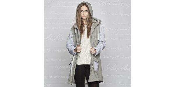 Dámský bavlněný kabát Paphia - šedý