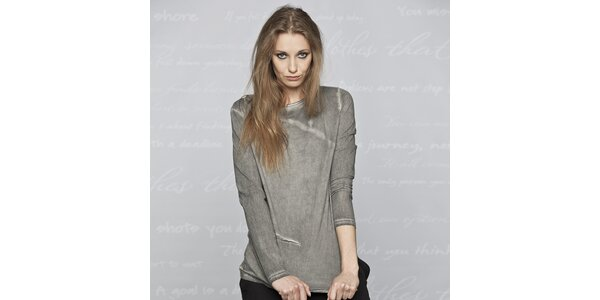 Dámské šedé triko s dlouhým rukávem Paphia