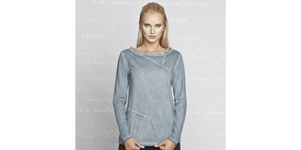 Dámské modré triko s dlouhým rukávem Paphia