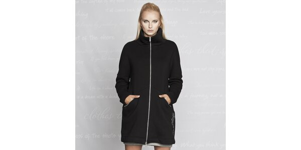 Dámský černý kabátek s kapsami Paphia