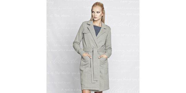 Dámský bavlněný kabátek Paphia - šedý