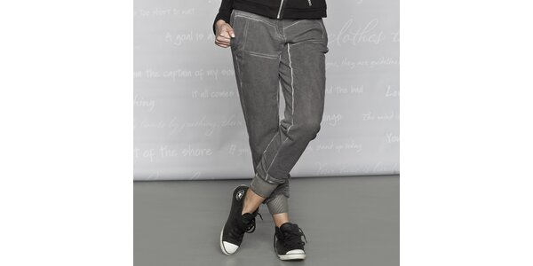 Dámské bavlněné kalhoty Paphia - šedé