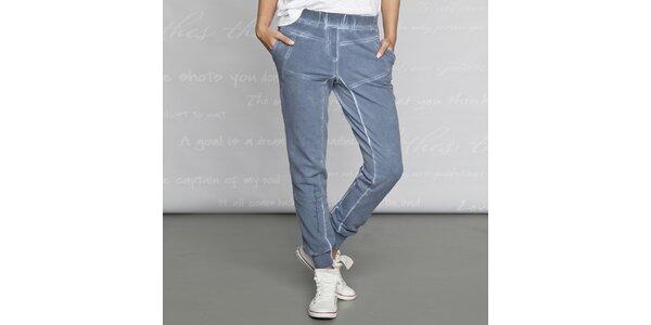 Dámské bavlněné kalhoty Paphia - modré