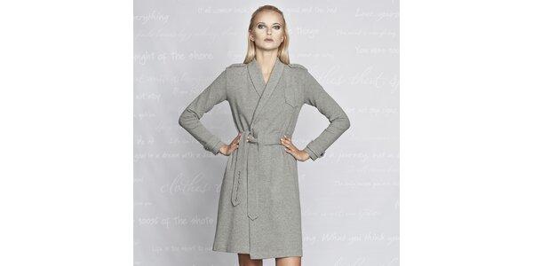 Dámský šedivý kabátek Paphia - bavlněný
