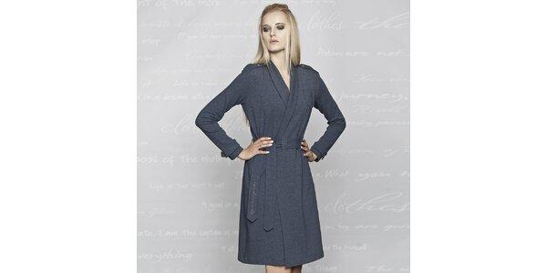 Dámský modrý kabátek Paphia - bavlněný