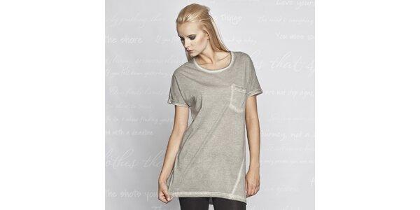 Dámské šedé tričko s krátkým rukávem Paphia